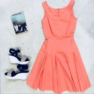 Calvin Klein 10 Coral Fit and Flare Dress